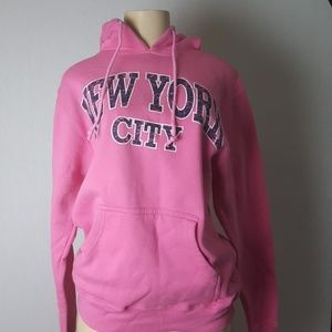 Pink New York City Hoodie Size Small